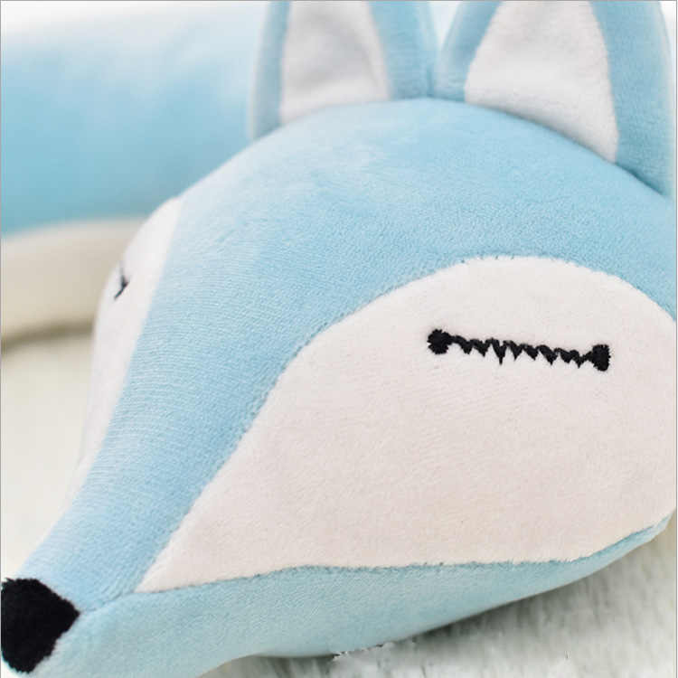 HazyBeauty 素敵なキツネ動物綿の U 字型のネックピロー旅行車のホーム枕昼寝枕ヘルスケアでマスク
