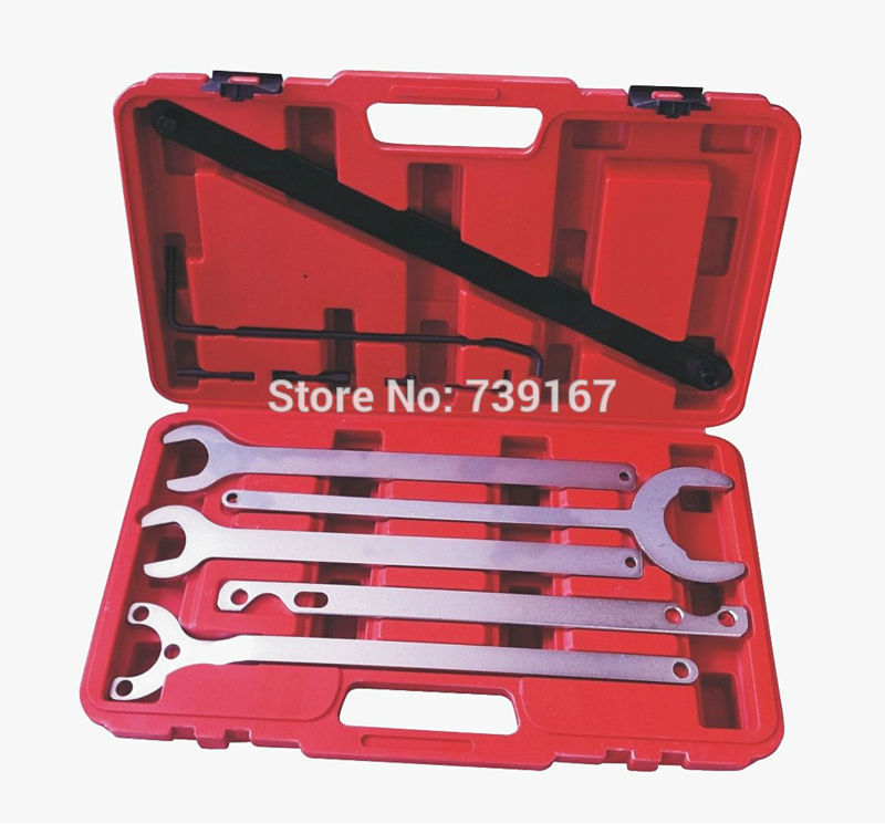 Universal Auotmotive Fan Clutch Water Pump Holder Wrench Tool Set For Ford BMW MERCEDES BENZ ST0204 20pcs m3 m12 screw thread metric plugs taps tap wrench die wrench set