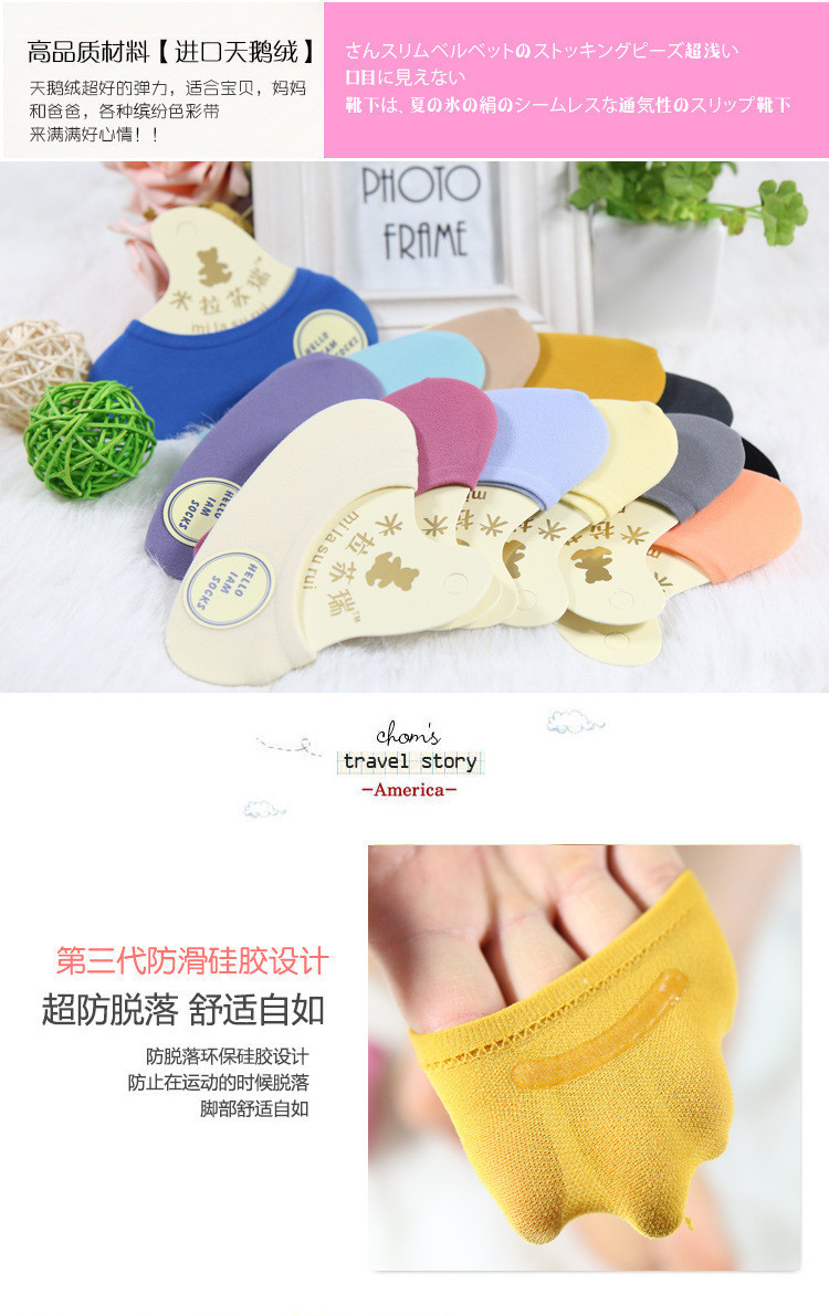Warm comfortable cotton bamboo fiber girl women's socks ankle low female invisible  color girl boy hosiery  10pair=2pcs WS44