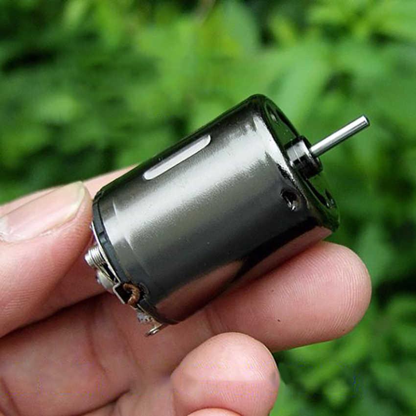 Kecepatan Tinggi Kuat Magnetic Mini Motor Torsi Tinggi Pesawat RC 370 Motor dengan Kompensasi Karbon Sikat DIY Pistol Air Modifikasi