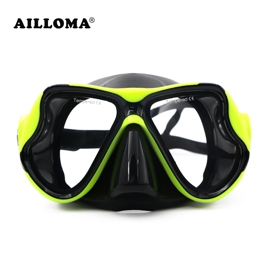 AILLOMA Rimless Scuba Diving Mask Foldable Water Sports Equipment Wide view Anti-Fog Silicone Swimming Masks for Snorkeling diving equipment