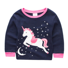 Cute Unicorn Printed Soft Cotton Baby Girl's Pajamas