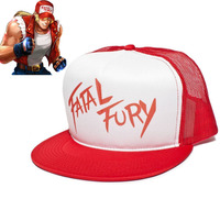 Game Fatal Fury The King Of Fighters Terry Bogard Cosplay Cap Red Adjustable Mesh Snapback Hat
