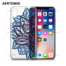 Aertemisi Phone Cases Alchemy Mandala Transparent Crystal Clear Soft TPU Case Cover for iPhone 5 5s SE 6 6s 7 8 Plus X(China)