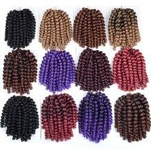 FALEMEI 10inch 2X jamaican bounce twist hair tresse crochet braids extensions wand curl Braiding hair 20Strands/pack 100g