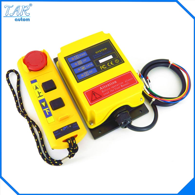 AC 380V Industrial Remote Control Switch Crane Transmitter 2 channels dc24v remote control switch system1receiver