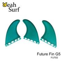 Surfing Fins Future G5 Green Blue Fibreglass Fins Surfboard Quilhas