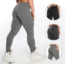 2018  Hot Simple Solid Color Women leging Pants High Elastic Sport Push Up Skinny Gym Running Pants Leggings Female Trousers