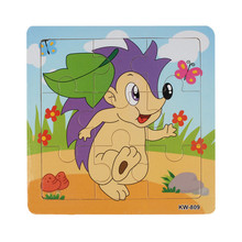 Fashion Hedgehog Wooden Kids Children Jigsaw Education And Learning Puzzles Toys Free Shipping