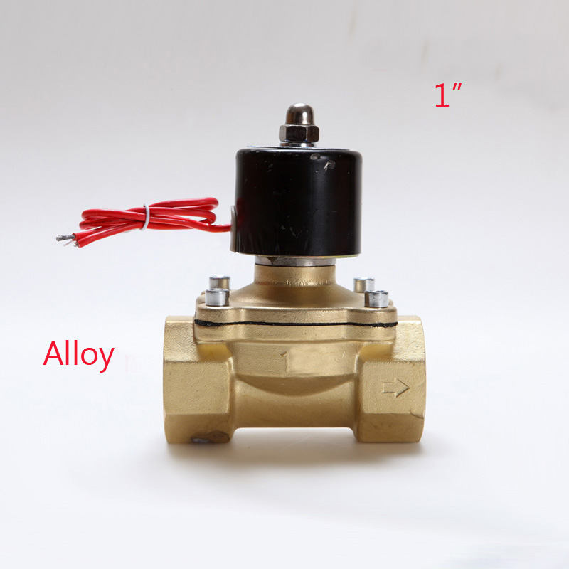Electric Solenoid Valve Water Air N C 2 Way 1 AC 220V 2W250 25 Alloy Body