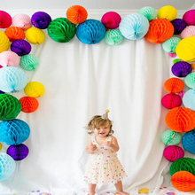 15pc 2(5cm) Solid Tissue Paper Honeycomb Balls Wedding Decoration Artificial Flowers Kids Birthday Party Home
