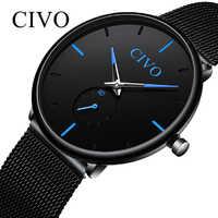 Reloj Hombre 2019 CIVO New Men Watch Top Brand Luxury Waterproof Quartz Wristwatches Fashion Casual Ultra Thin Watches Men Clock