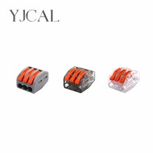 Wago Type 222-413 100PCS Universal Compact Wiring Conector Terminal Block Connectors Terminator Wire Connector AWG 28-12 wago type 222 412 413 415 10pcs universal compact wiring conector terminal block connectors terminator wire connector awg 28 12 page 9