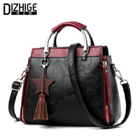 DIZHIGE Brand Tassel Women Handbags Chain Crossbody Bags Women Double Zipper Tote Bag Ladies Designer PU