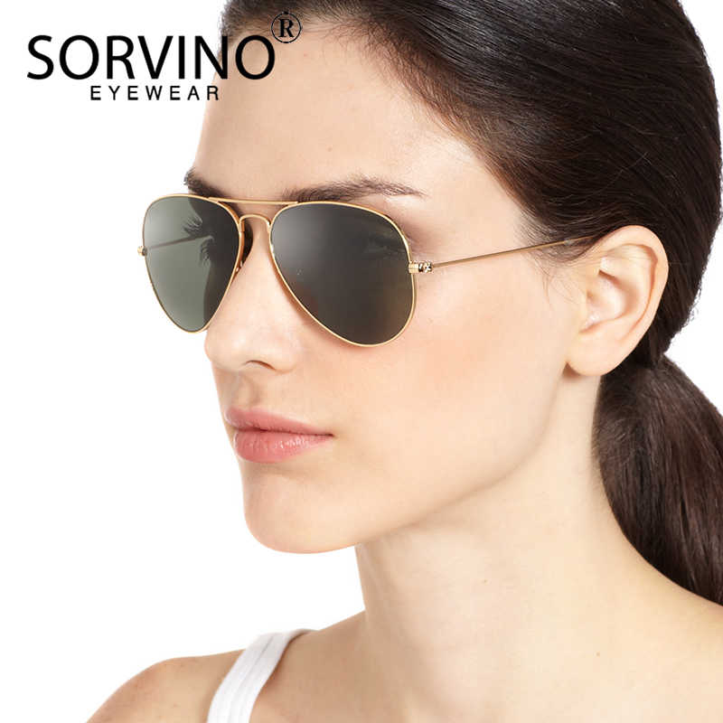 902a02bc705f SORVINO Retro Classic Polarized Pilot Sunglasses Women Men 2018 luxury  brand Big Mirror Aviation 90s Sun