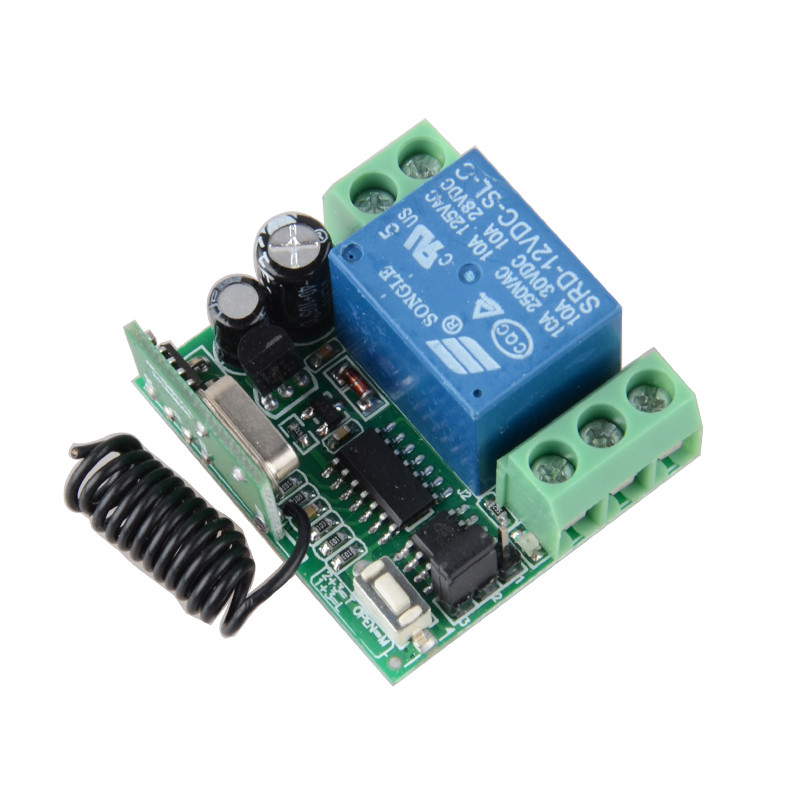 Mini Size Receiver 12V 1CH 10A Wireless Remote Control Switch 315Mhz 433MHZ Access Door Control SystemMini Size Receiver 12V 1CH 10A Wireless Remote Control Switch 315Mhz 433MHZ Access Door Control System