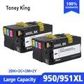 2 комплекта совместимый чернильный картридж для HP 950XL 951XL 950 951 Officejet Pro 8100 8600 8610 8615 8620 8625 251dw 276dw для HP950