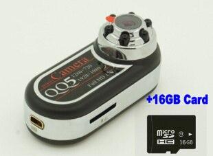 Portable Mini Caméra Sport QQ5 Full HD 12MP Détecteur De Mouvement Infrarouge Vision Nocturne Mini Caméra DV Caméscope Webcam with16GB carte