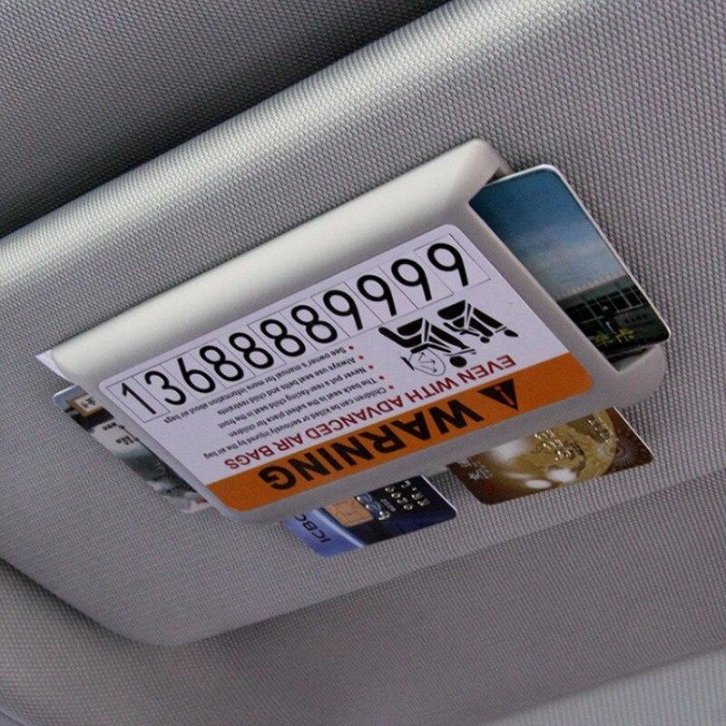 Car Styling Sun Visor Parking Card Holder Accessories Stickers For Audi A3 A4 A5 A6 B5 B6 B7 Q3 Q5 Q7 Rs Quattro S Line C5 C6 Tt