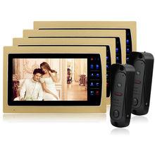 Homefong 7 Inch TFT Touch Screen Color Video Door Phone Cmos Night Version Camera Intercom System 12 Door Bell Rings door viewer