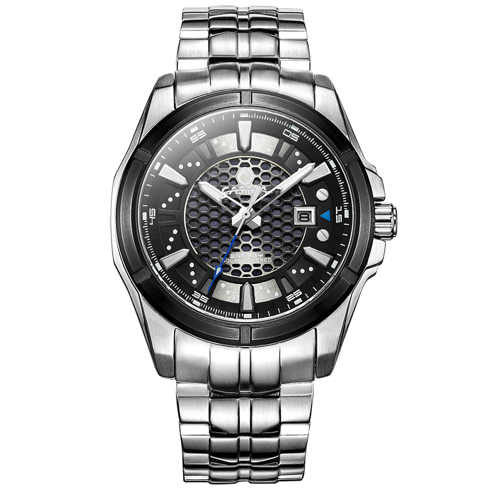 New luxury brand watches men watch sports fashion solar energy charge strongest luminous waterproof 100m CASIMA