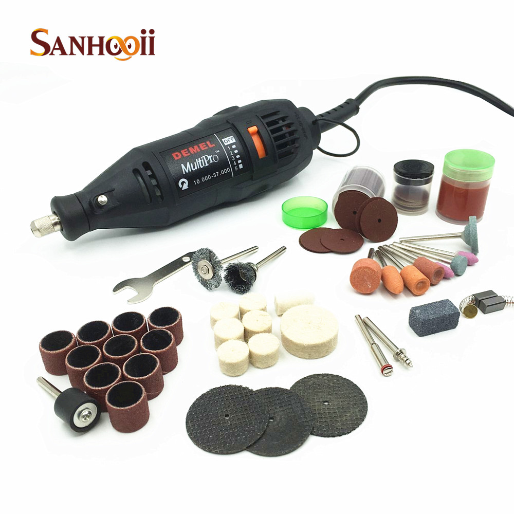 ФОТО Electric Rotary Tool Dremel style Mini Driill and Accessories 10000-37000R/min DIE Grinder Power Tools