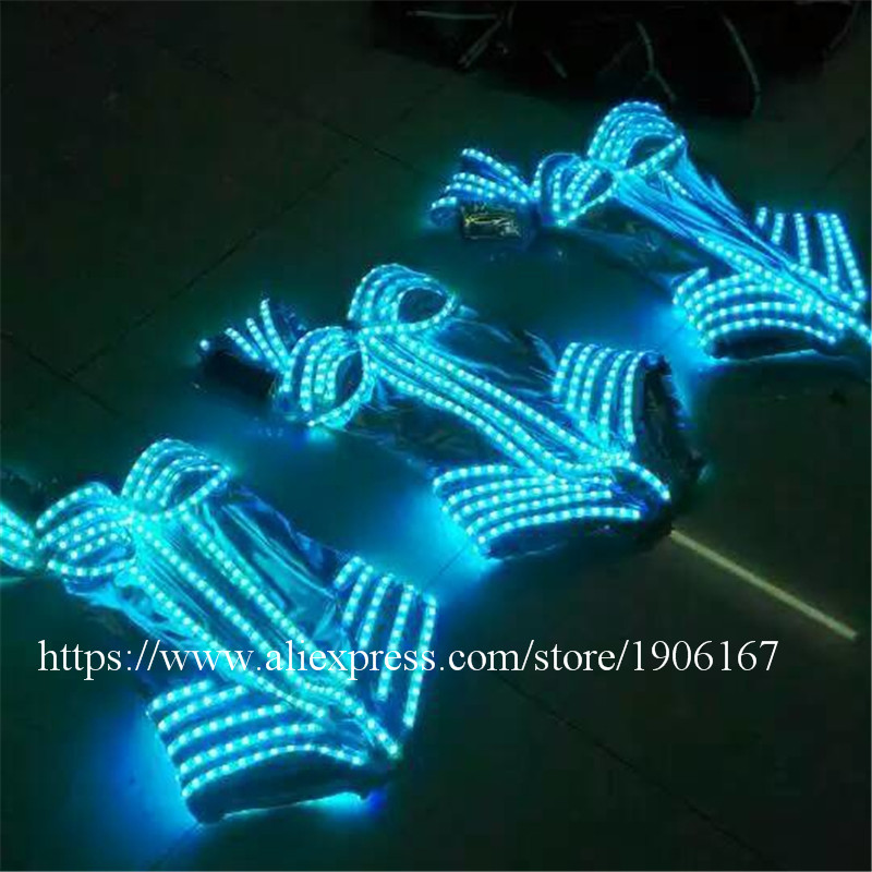 7 Colors Led Light Luminous Flashing Growing Costume Halloween Dance Suit Sexy Lady dress4