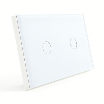 Bseed 240v Touch Switch 2 Gang 2 Way Light Touch Switch With Glass Panel White Touch Wall Switch Us Au Eu Uk k1rf ltech one way touch switch panel ac200 240v input can work with vk remote page 2