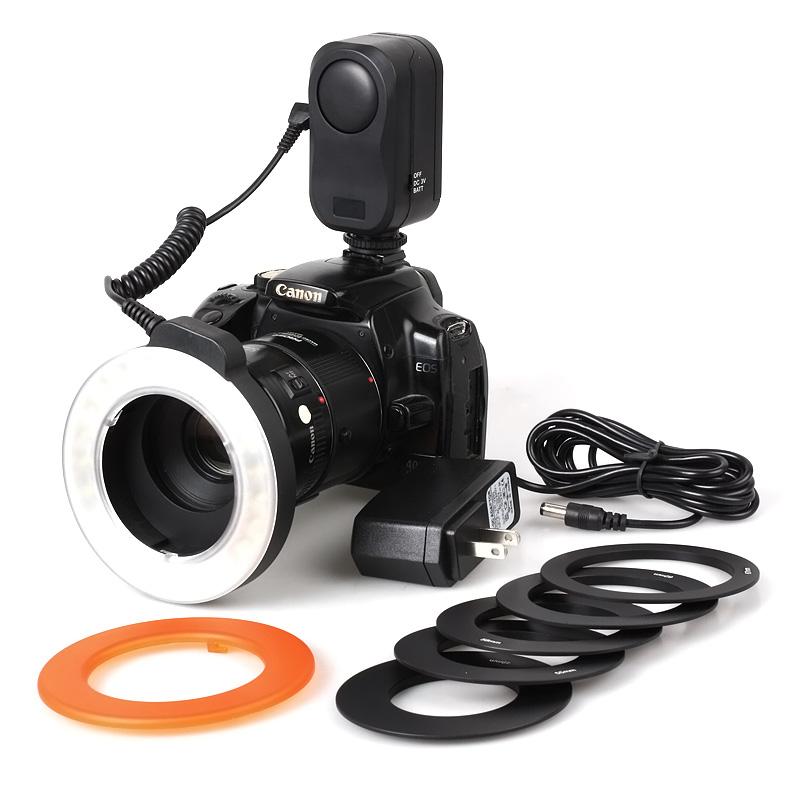 Prix pour 48 LED Professionnel Caméra Anneau Lumière pour DSLR Universel Appareil Photo Numérique Anneau lumières macro feux remplissent photographie lumières