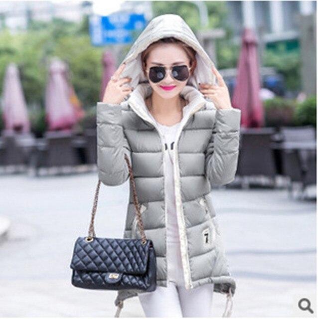 2016 Плюс Размер Женщин Мода Вниз Пальто Осень-Зима Куртка Женщин C048
