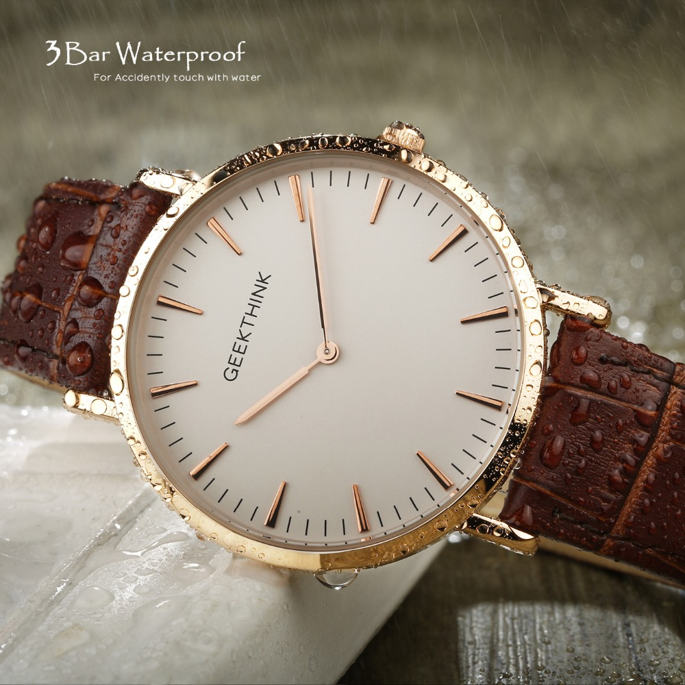 2017 New ultra slim Men Watch Top Luxury brand Quartz-Watch Minimalist trend leather Strap Wristwatch Simple Classic design Gift