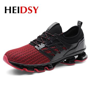 Heidsy Men Sport Running Shoes 2018 Lace-up Exercise Couple Sneakers Breathable Mesh Training Shoes Size 36-46 Sneakers for Men cross training shoe