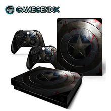 Наклейка на кожу GAMEGENIXX защитный винил наклейка для консоли Xbox One X и 2 контроллера-Капитан Америка