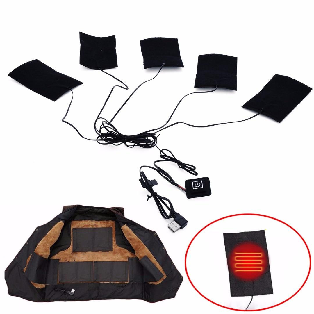 1 Satz Wasserdichte Biegsamen Elektrische Heizkissen DIY Thermische Kleidung Wärmer Beheizten Jacke Mobile Erwärmung Getriebe Mayitr