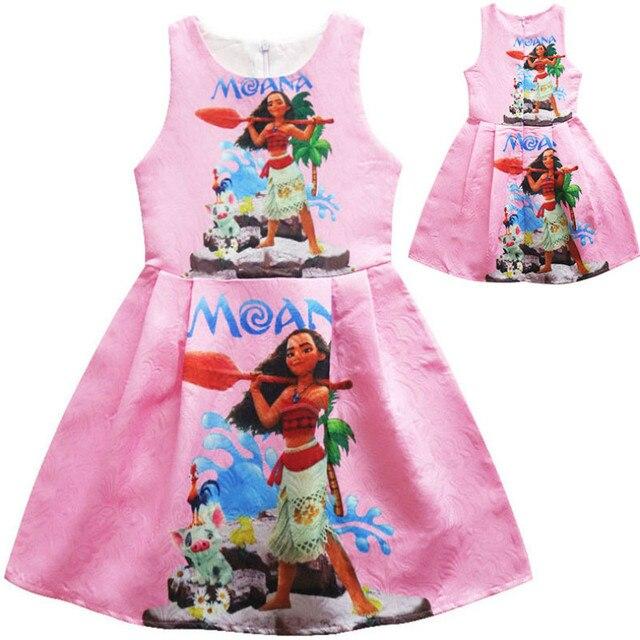 Bebé de Moana Niñas moda vestido Moana ropa princesa diseño lindo ...