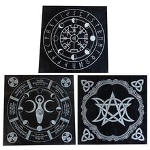 49*49CM Tarot Cloth Board Game Black Divination Tablecloth Table Cover Playing Cards Games