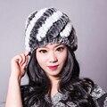 YCFUR Rex Chapéus de Pele Mulheres Inverno Quente Natural de Alta Qualidade Chapéus De Pele De Coelho Inverno Gorro De Pele De coelho Atacado Varejo Para mulheres