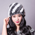 YCFUR Women Winter Fur Hats Warm High Quality Natural Rex Rabbit Fur Beanie Wholesale Retail Winter Rabbit Fur Hats For Women
