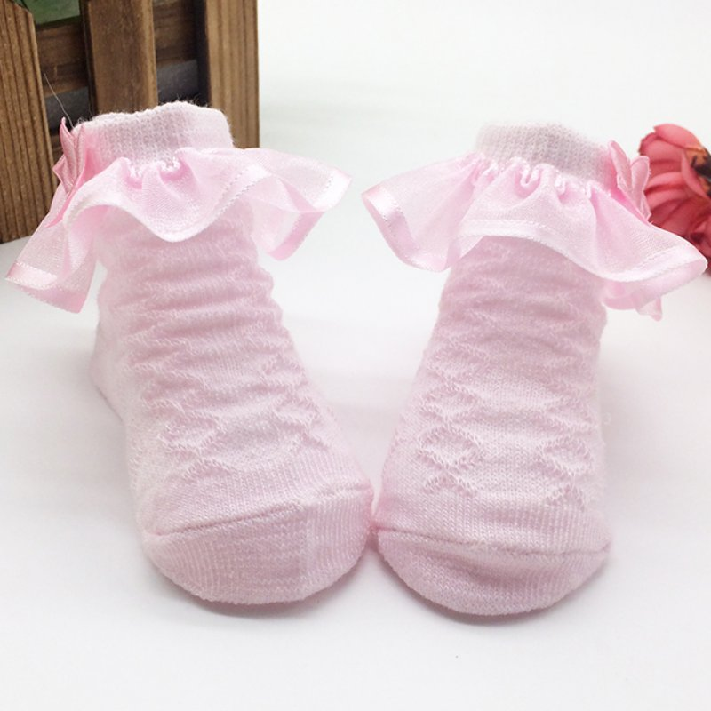 Lovely Infant Girls First Walkers Strumpor Baby modeller spets - Babykläder