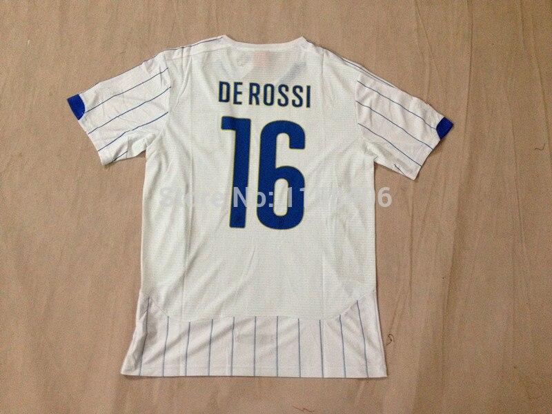 9e21cc2f7cd MARIO BALOTELLI Italy Jersey World Cup 2014 DE ROSSI PIRLO Italy Soccer Jerseys  Italy Home Blue Away White Italia Football Shirt