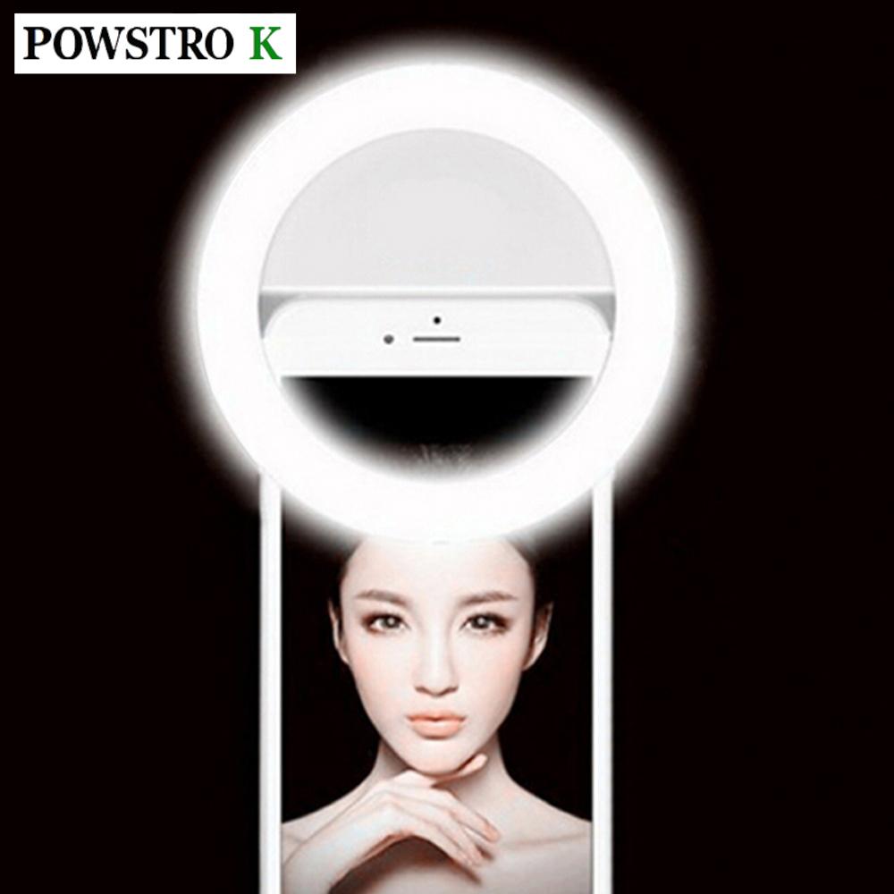 Prix pour Rechargeable Selfie LED Light Up Flash Lumière Photographie Selfie Anneau Lumière Clip Pour iPhone 6 7 7 plus 6 s 5S Samsung Sony Motorola