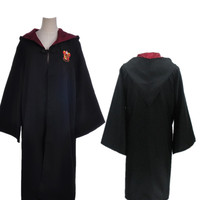High Quality Robe Gryffindor Coat Kids Adult Cosplay Costume 4 Styles Harri Potter Ties Magic Gowns