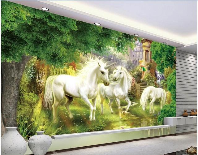 3d wallpaper custom photo non woven mural Wonderland Unicorn