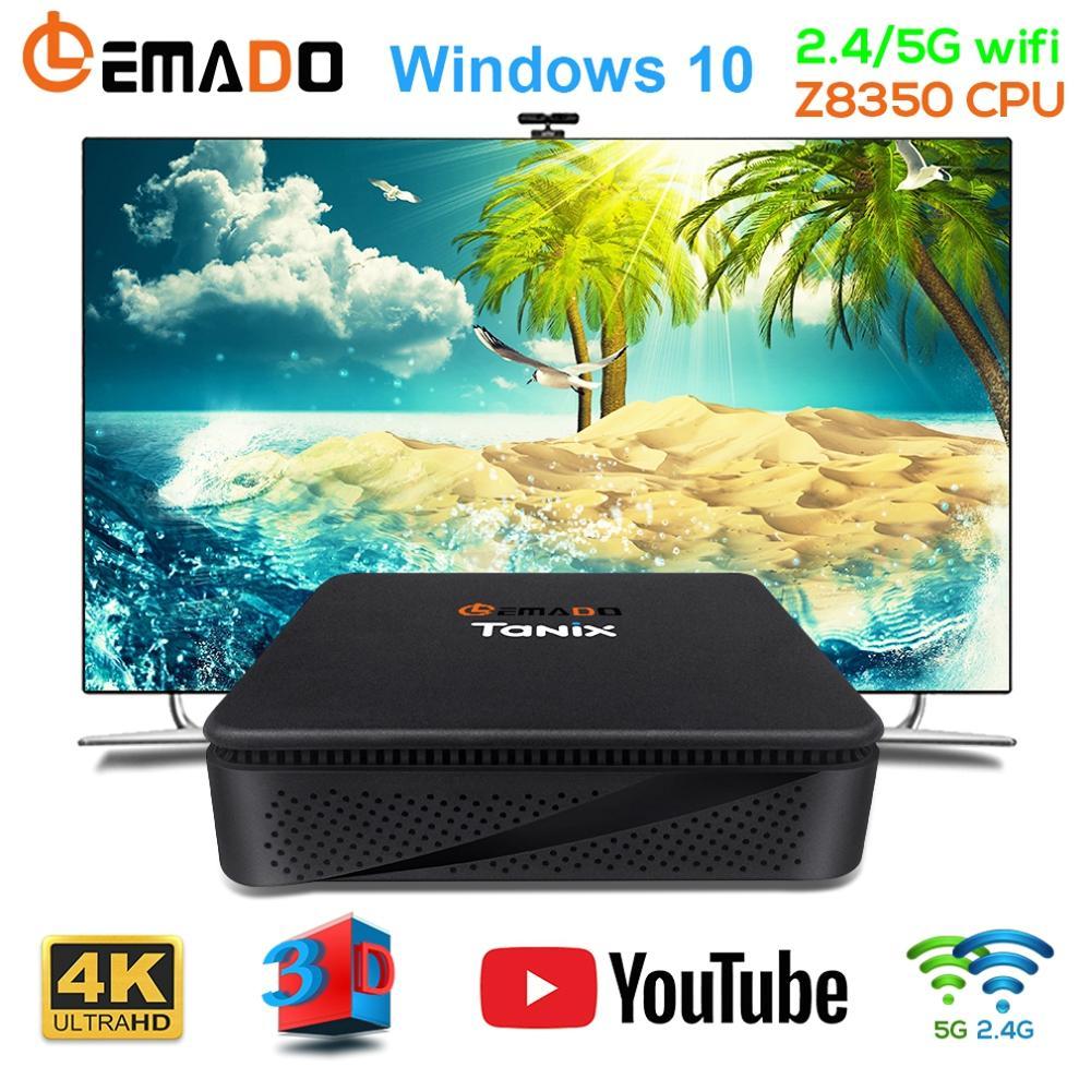 LEMADO TX85 Mini PC Windows 10 for Intel Atom X5 Z8350 TV Box 4G 64G Memory