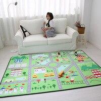 Home Decor 150*200 см Антискользящая большой толщиной мультфильм коврики детские комнаты ковры детские, для малышей играть ползать коврик ковер дл