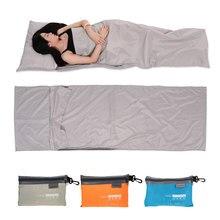 TOMSHOO 75*210CM Outdoor śpiwór lekki Camping piesze wycieczki torba podróżna Liner przenośny składany śpiwór z poszewką