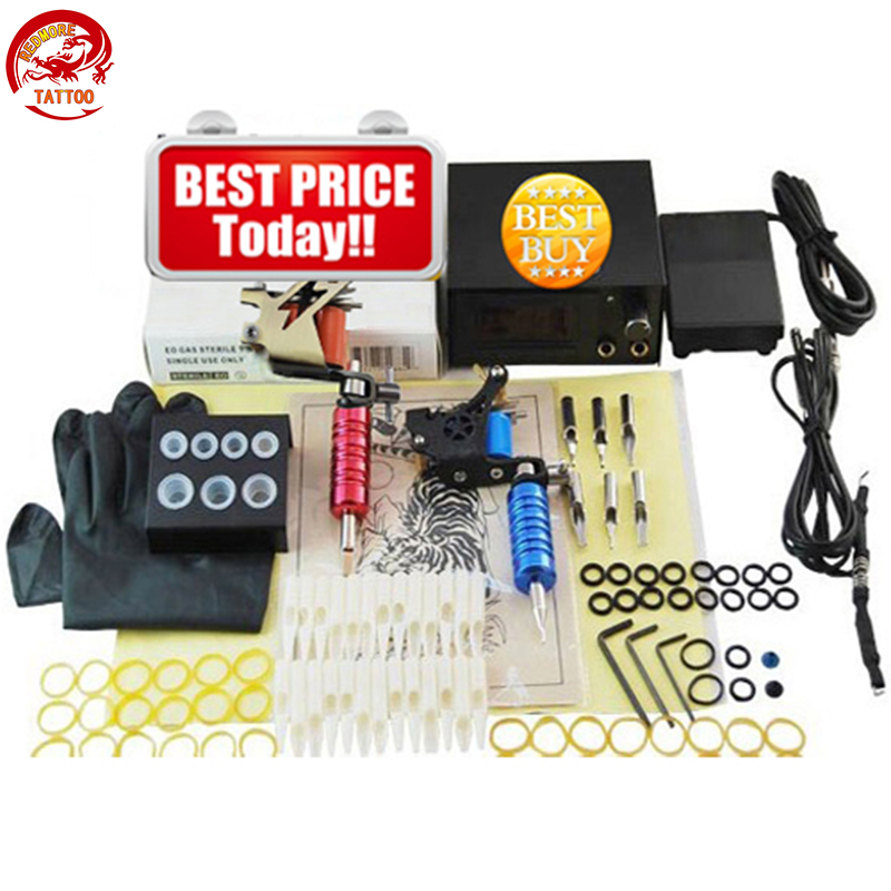 Completed Tattoo Machine Kit 10 Coils Guns Set Power Tattoo Beginner Grips Kits Permanent Makeup PTK-911-A1 35000r import permanent makeup machine best tattoo makeup eyebrow lips machine pen