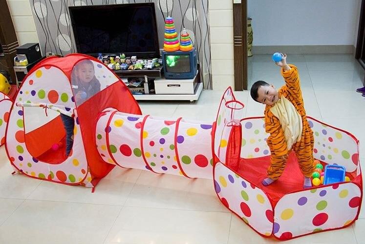 Plaisir en plein air et les Sports Pelouse Tente Enfants Jouent Tente Piscine Enfants Tente Bébé Jouets Éducatifs Jeu Maison Océan Piscine À Balles