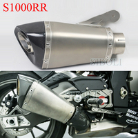 Slip on Exhaust For BMW S1000RR 2015 2016 2017 Years 60mm Motorcycle Akrapovic Exhaust Muffler With DB Killer Real Carbon Fiber