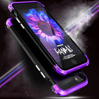 Luxury Case For IPhone 7 7 Plus Case 360 Full Protection 3in1 Aluminum Metal PC Hard